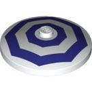 LEGO Dish 4 x 4 Inverted with Dark Purple Octagons Decoration (94656)