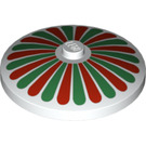LEGO Dish 4 x 4 Inverted with Red and Green Petals (81847)