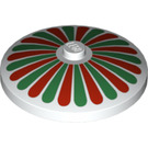 LEGO Dish 4 x 4 Inverted with Red and Green Petals with Solid Stud (3960 / 81847)