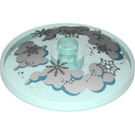 LEGO Dish 4 x 4 with Clouds and Snowflakes Pattern with Solid Stud (3960 / 36963)