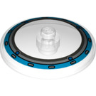 LEGO Dish 4 x 4 with Dark Azure Circle Pattern with Solid Stud (3960 / 23907)