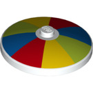 LEGO Dish 4 x 4 with Multicoloured Stripes (Umbrella) with Solid Stud (3960 / 37380)