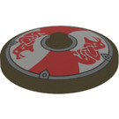 LEGO Dish 4 x 4 with Sea Serpent Shield with Solid Stud (3960 / 53672)