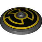LEGO Dish 4 x 4 with Yellow Sinestro Logo with Solid Stud (3960 / 19713)