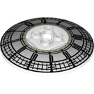 LEGO Dish 6 x 6 Inverted (Radar) with Clock Decoration on Concave Side Solid Studs (21599 / 26864)