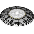 LEGO Dish 6 x 6 Inverted (Radar) with Clock Decoration on Concave Side Solid Studs (26864)