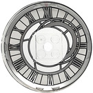 LEGO Dish 6 x 6 Inverted (Radar) with Clock Face decoration on concave side. Solid Studs (21599 / 53213)