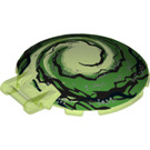 LEGO Dish 6 x 6 Inverted with Handle with Decoration (18675 / 33884)