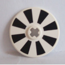 LEGO Disk 3 x 3 with Black and White Sections (2723)