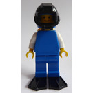 LEGO Diver with Blue Helmet, Black Frogman Visor, Yellow Airtank and Black Flippers Minifigure
