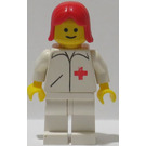 LEGO Doctor with Red Female Hair Minifigure