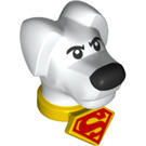 LEGO Dog Head with Yellow Collar and Red Superman Logo (36800)