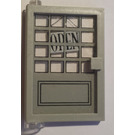 LEGO Door 1 x 4 x 5 Left with Transparent Glass with Sticker from Set 6765 (47899)