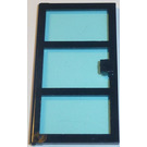 LEGO Door 1 x 4 x 6 with 3 Panes and Transparent Light Blue Glass (76041)
