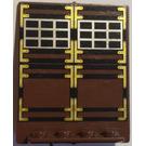 LEGO Door 2 x 5 x 5 Revolving with Decoration (30102)