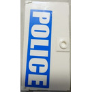 LEGO Door for Frame 1 x 4 x 6 with Stud Handle with 'POLICE' (Left) Sticker (60616)