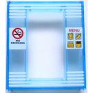 LEGO Door Frame 2 x 8 x 8 with NO SMOKING and MENU Pattern