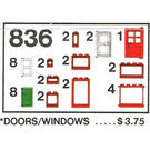 LEGO Doors and Windows Parts Pack Set 836