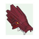 LEGO Dragon Head with Red Markings