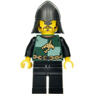 LEGO Dragon Knight with Stubble, Helmet with Neck Protector and Black Legs Minifigure
