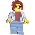 LEGO Dragway flagger Minifigure