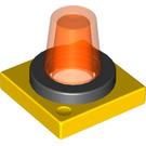 LEGO Duplo 2 x 2 Flashlight Base with transparent orange light (40867 / 43158)