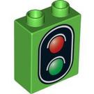 LEGO Duplo Brick 1 x 2 x 2 with Traffic Light without Bottom Tube (49564 / 52381)