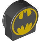 LEGO Duplo Brick 1 x 3 x 2 with Round Top with Batman Symbol with Cutout Sides (14222 / 17418)