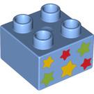 LEGO Duplo Brick 2 x 2 with Decoration (3437 / 12694)