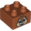 LEGO Duplo Brick 2 x 2 with Decoration (3437 / 13132)
