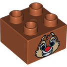 LEGO Duplo Brick 2 x 2 with Decoration (3437 / 13133)