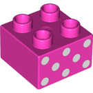 LEGO Duplo Brick 2 x 2 with Decoration (3437 / 13135)