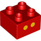 LEGO Duplo Brick 2 x 2 with Decoration (3437 / 13136)