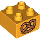 LEGO Duplo Brick 2 x 2 with Decoration (3437 / 16320)