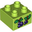 LEGO Duplo Brick 2 x 2 with Grapes (3437 / 15868)