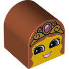 LEGO Duplo Brick 2 x 2 x 2 with Curved Top with Decoration (3664 / 13862)