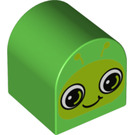 LEGO Duplo Brick 2 x 2 x 2 with Curved Top with Decoration (3664 / 15989)