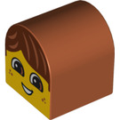 LEGO Duplo Brick 2 x 2 x 2 with Curved Top with Decoration (3664 / 99879)