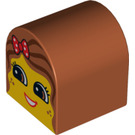 LEGO Duplo Brick 2 x 2 x 2 with Curved Top with Decoration (3664 / 99880)