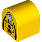LEGO Duplo Brick 2 x 2 x 2 with Curved Top with Pluto (3664 / 13131)