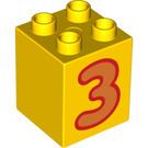 LEGO Duplo Brick 2 x 2 x 2 with Decoration (13165 / 31110)