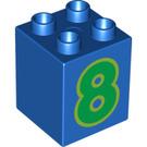LEGO Duplo Brick 2 x 2 x 2 with Decoration (13171 / 31110)