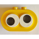 LEGO Duplo Brick 2 x 4 x 2 Rounded Ends with Two Adjustable eyes