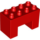 LEGO Duplo Brick 2 x 4 x 2 with 2 x 2 Cutout on Bottom (6394)