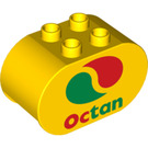 LEGO Duplo Brick 2 x 4 x 2 with Rounded Ends with Octan logo (6448 / 10204)