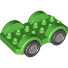 LEGO Duplo Car with Black Wheels and Silver Hubcaps (11970 / 35026)