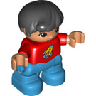 LEGO Duplo Child with Red Top Minifigure