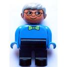 LEGO Duplo Grandpa with Glasses and Medium Green Bow Tie Duplo Figure