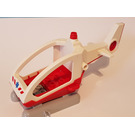 LEGO Duplo Helicopter with Cabin, Red Base and EMT Star of Life (47425)