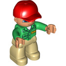 LEGO Duplo Male Zookeeper with Light Flesh Head Duplo Figure